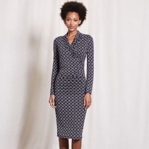 Boden Ww162 Ruched Wrap Dress 8L
